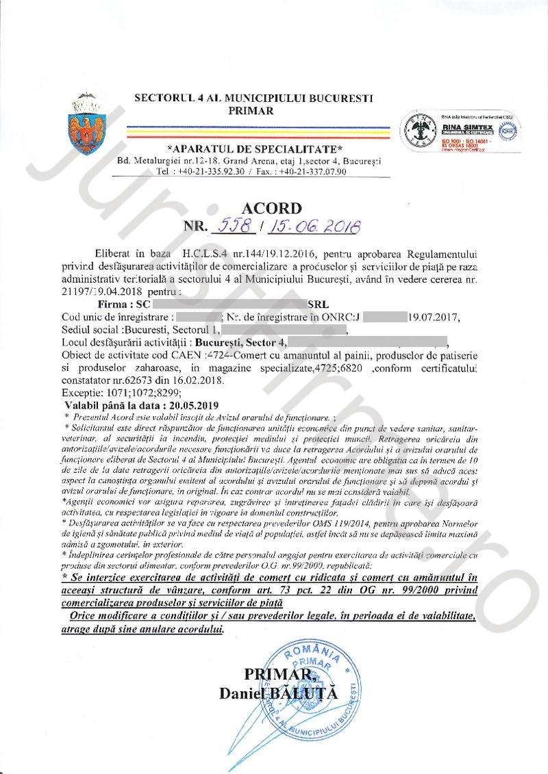 Acord de Functionare Sector 4