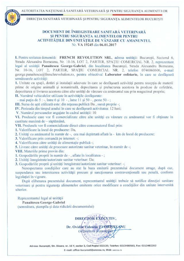 Autorizatie sanitară veterinară