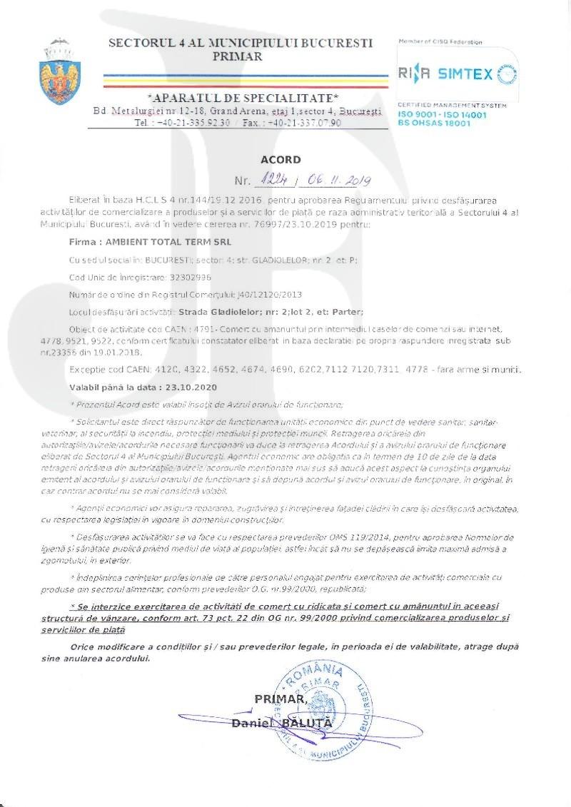 Acord de Funcționare Sector 4